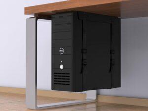 ordinateur sous votre bureau