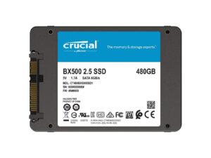 Crucial BX500 480Go SSD Interne SATA, 2,5 pouces