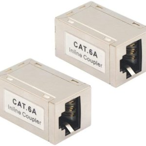 Coupleur RJ45 Blindé Cat6A Inline Adaptateur Ethernet Câble Connecteur