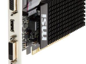 MSI GT 710 1GD3H LP Carte Graphique Nvidia GT710 954 MHz 1024 Mo PCI Express Noir